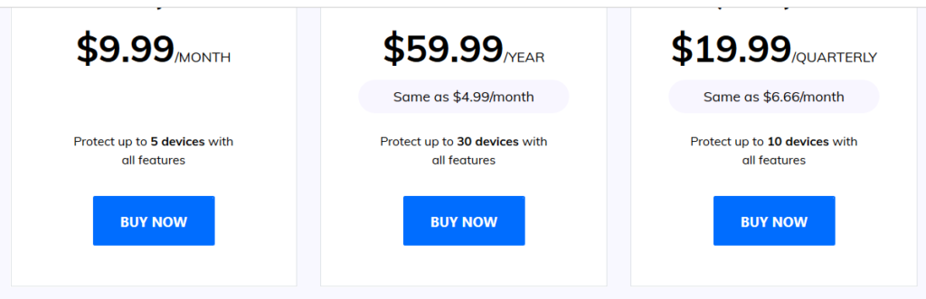 Famisafe Pricing
