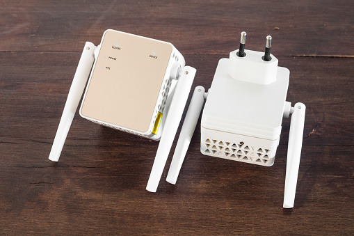 Detail of Wi-fi extender.
