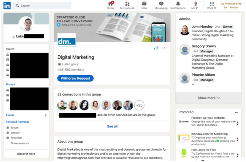 Join/ Create Linkedin Groups